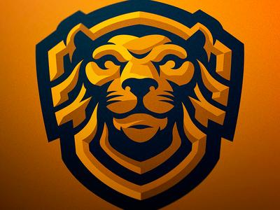 Lionshield Mascot Logo jellybrush illustrator designer mascotlogo graphic e-sports vector sport design sports logo mascot logo mascot esports branding logotype logo