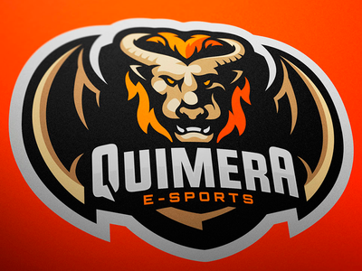 Quimera Esports Mascot Logo jellybrush illustrator designer mascotlogo graphic e-sports vector sport design sports logo mascot logo mascot esports branding logotype logo