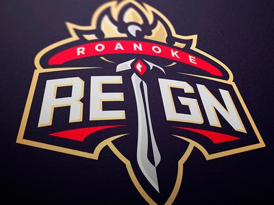 Roanoke Reign Mascot Logo illustrator jellybrush mascotlogo e-sports vector sport design sports logo mascot logo mascot esports branding logotype logo