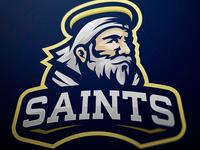 Saint mascot logo