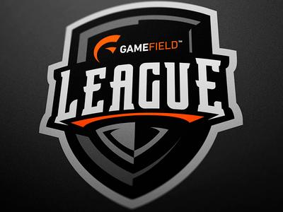 Shield Logo for Gamefield League jellybrush illustrator mascotlogo e-sports vector sport design sports logo mascot logo mascot esports branding logotype logo