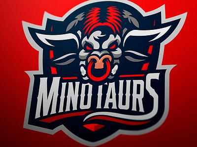 Minotaur mascot logo designer jellybrush illustrator graphic mascotlogo e-sports vector sport design sports logo mascot logo mascot esports branding logotype logo