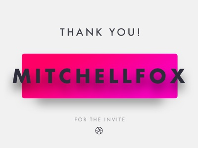 Hello dribbble! first clean you thank dribbble debut