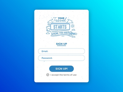 Sign Up ios mobile app in chart up sign