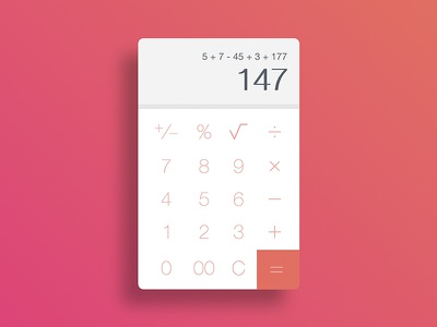 Calculator ux ui daily android ios mobile app phone calculator