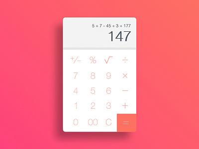 Calculator ux ui daily android ios mobile app phone calculator
