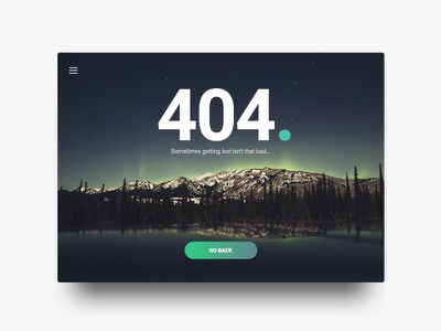 404 page simple night lost error nature 404