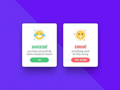 Flash Message (Error/Success) web mobile app message flash success error
