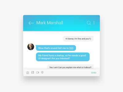 Direct Messaging minimal android ios web mobile app message