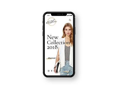 Fashion Shop shop gold android ios app ux ui design web concept mobile