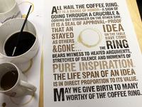 Coffee ring 1 big