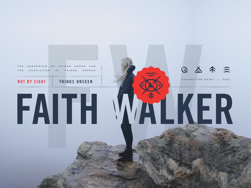 1/2  -  Faith Walker mist woman tree water grid vintage layout dots cliff lines icons tent x eye badge seal sermon art sermon seres faith