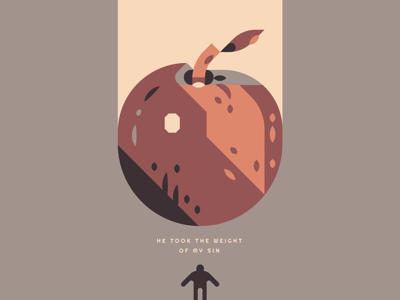 Apple food plant art death singer fruit shapes style illustration apple
