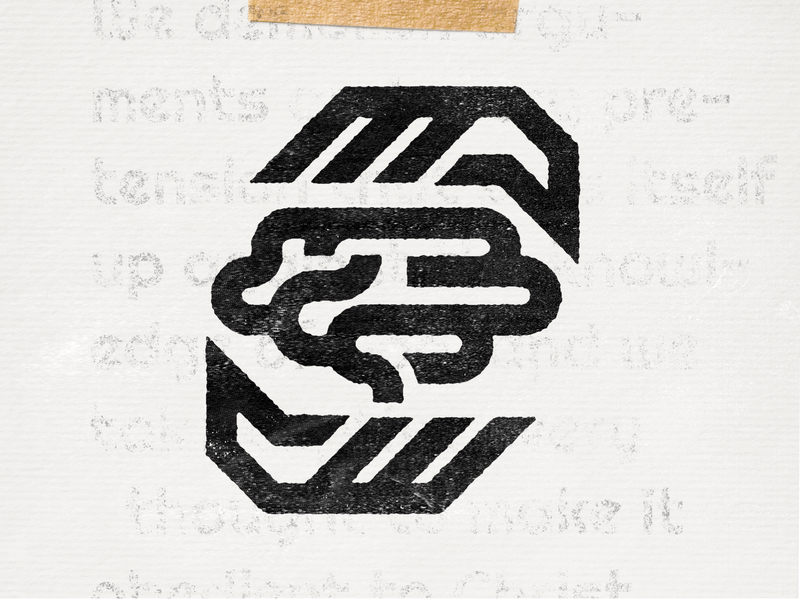 Take Every Thought Captive print paper texture vintage hand hands lines logo icon brain