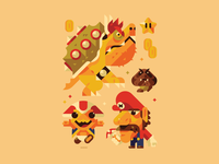 It's-a Me illustration goomba fun funny nintendo toad toad face toadstool bowser mario brothers mario kart mario bros