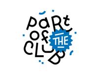 Kid Clubhouse Shirts party logo typography logo typedesign type brand fun kids typography shirt design t-shirt shirt cluhouse partoftheclub