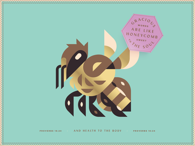 Bee Nice illustration honeybee bible verse be nice kindness kind words gracious honeycomb bee