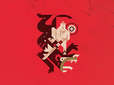 Jack vs Aku rat bat gorilla octopus alagator goat banners cartoon network genndy tartakovsky aku samurai jack