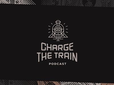 Dark Train Logo typogaphy podcast branding logo evil skull train