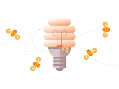 Sticky Ideas bee honey hive beehive sticky idea light bulb