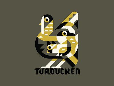 Turducken funny tshirt funny happy thanksgiving thanksgiving day thanksgiving geometric simple shapes fowl bird food yum duck chicken turkey typogaphy turducken