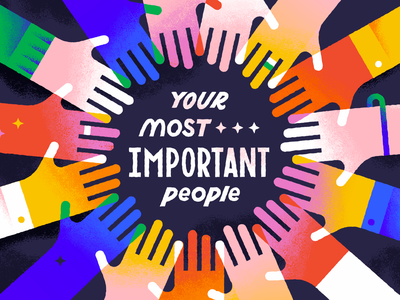 Your Most Important People arms series sermon people relationships circle hands in the middle hands typogaphy