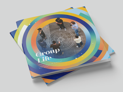 Group Life Brochure gradient branding print brochure design brochure layout group life