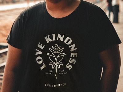 Love Kindness Shirts screen print shirt justice kindness be kind illustrator shapes geometric illustration flower