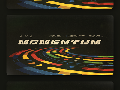 Momentum social media instagram posts brand break out branding logo typography road racing speed lines motion lines motion speed campaign series sermon art