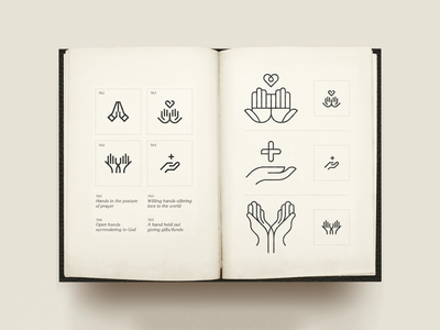 T I N Y    H A N D S lines iconset handset surrender pray give love small simplicity tiny icons vintage spread icons hands