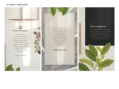 Words of Comfort 2/2 sermon series layouts elements brand breakout church jesus simple vintage type logo sermon