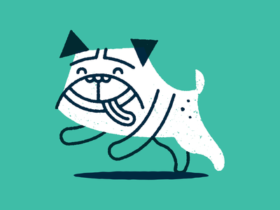 Happy Pug pug dog happy tongue puppy
