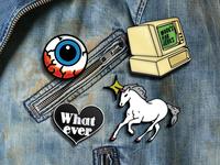 80s Jacket Pins