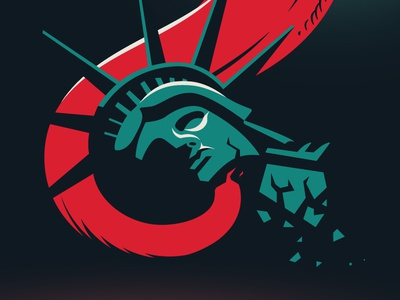 Escape From New York 10080sart statue of liberty lady liberty new york snake plissken escape from new york gradient 80s cobra snake