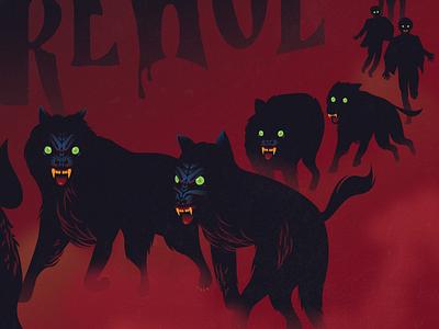 Cycle of the Werewolf stephen king fog dark horror vintage eyes 80s night werewolf cover book 10080sart