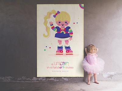 Rainbow Brite rainbow brite girl wall vintage retro art poster 80s 10080sart