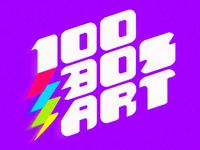 100 80s Art - logo