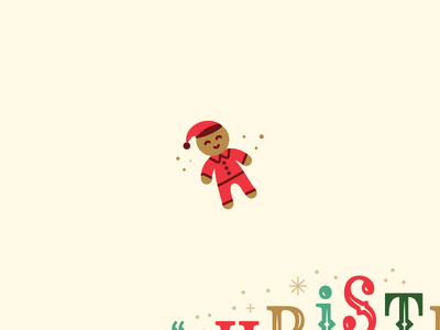 Gingerbread in Pajamas church event flyer postcard type christmas pjs kid man gingerbread