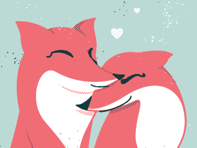 Will You Be My Valentine fox foxy forever type illustration color hearts crest love happy valentine card poster print smile love life valentines day