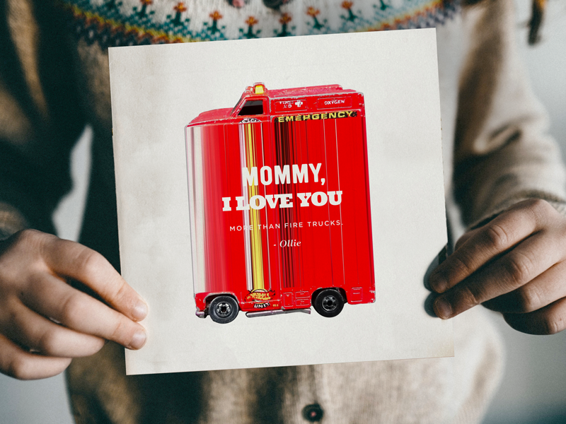 Mother's Day Card mothers day fire truck mother kid son mom love more fun crazy type card