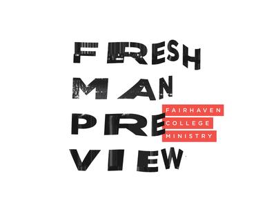 Freshman Preview tv preview retro modern crazy fresh broken vhs static scan