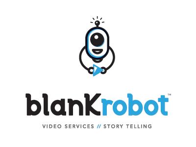 Blank Robot Logo logo type custome liustration robot video play