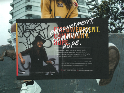 PAI marker dope graffiti street hip modern empowerment underserved poverty card poster flyer