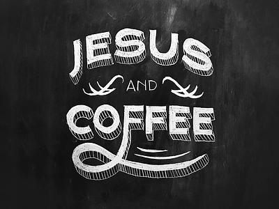 Jesus and Coffee coffee shop coffee jesus chalk