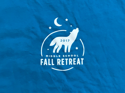 Camp Shirt kids ministry students youth stars moon fall shirt camp icons wolf