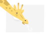 Tired Giraffe