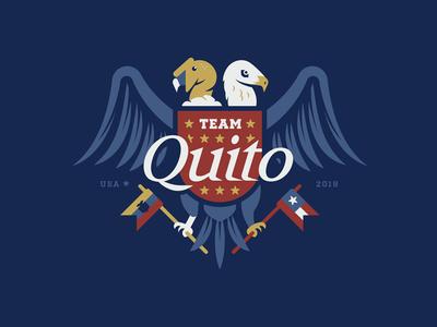 Ecuador/America Crest students mission trip quito crest seal flags birds ecuador american flag american eagle