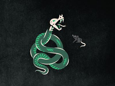 Doubt & Death illustration albumcover album album art playlist heavy lines slither fear scary nature prey serpent doubt death mouse dark darkness satan snake