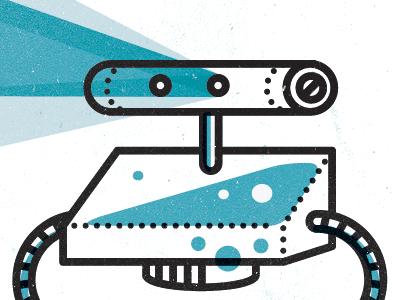 Projector bot by visu l jams dribbble dribbble for Shot bot lighting