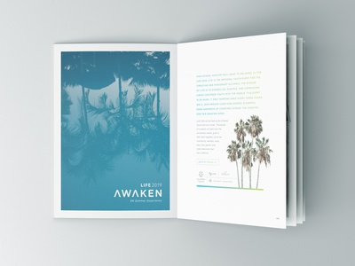 Life Booklet gradient cover book booklets photo layout photos polorids clean modern booklet florida orlando cma student ministry youth ministry students spread layout spreads